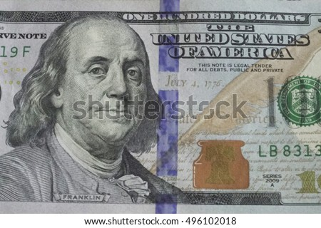 Franklin on the hundred dollar bill