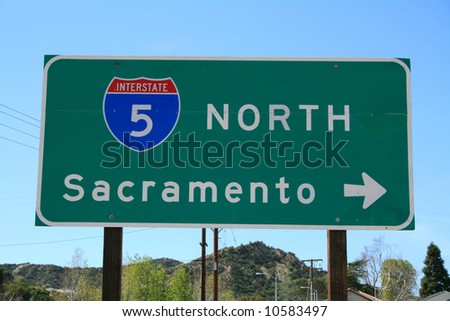 5 Freeway North Sign