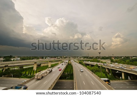 freeway overpasses and bridges.