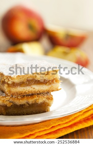 fresh apple pie - stock photo