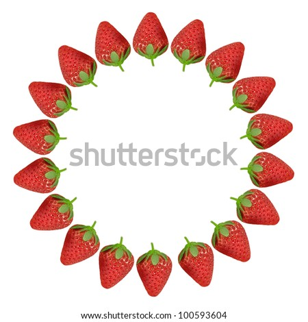 """Fresh red strawberries isolated on white background"" - stock photo"