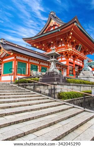 Fushimi Inari Shrine kyoto osaka japan - stock photo