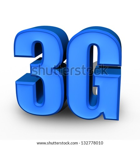 3G 3d on white background - stock photo