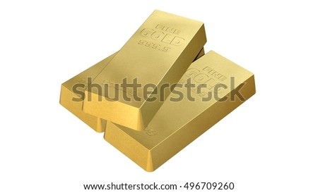 1000g gold bar isolated on white background - 3d rendering