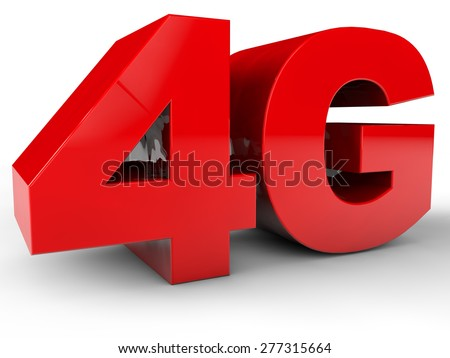 4G GSM Network over white background - stock photo