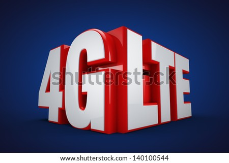 4G LTE - stock photo
