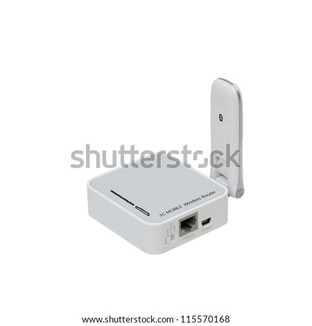 3G mobile wireless USB router. - stock photo