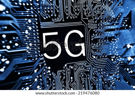 5g network communication - stock photo