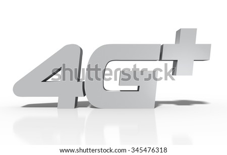 4G plus - stock photo