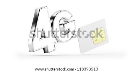 4G SIM card - stock photo