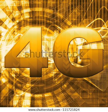 4G wallpaper - stock photo