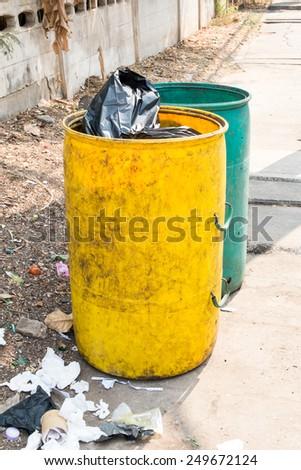 garbage bins  - stock photo