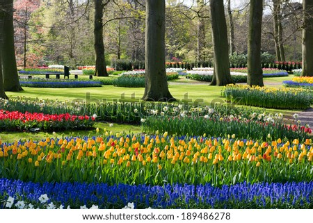Gardens, Netherlands - stock photo