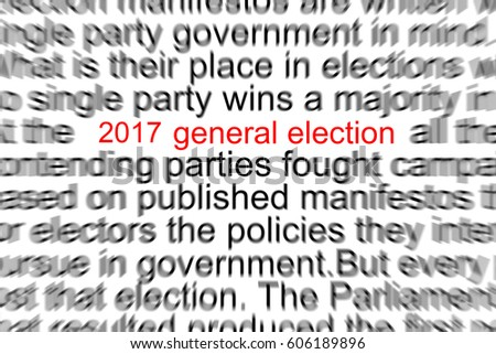 2017 General Election Written in a Newspaper