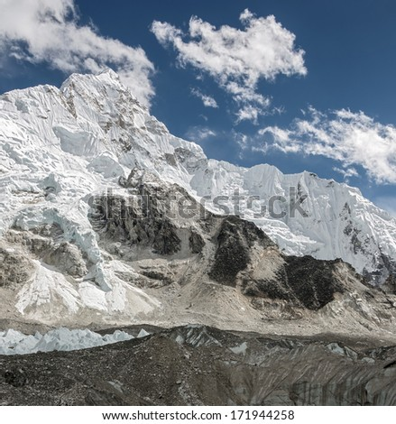 General view of the Nuptse and Khumbu glacier - Everest region, Nepal