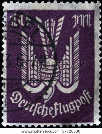 GERMANY - CIRCA 1920s: A stamp printed in the Germany shows image of bird, circa 1920s