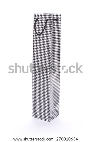 GIFT BAG FOR WINE - stock photo