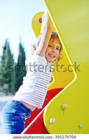 girl on the playground - stock photo