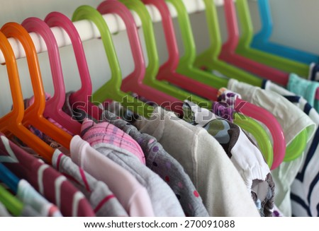 Girls wardrobe  - stock photo