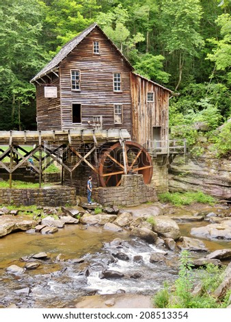 Glade Creek grist mill a Babcock State Park in West Virginia