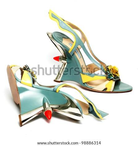 glamorous women shoes isolated - stock photo