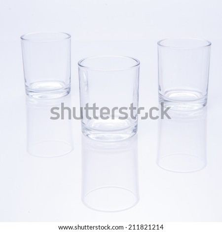 glass on white background - stock photo