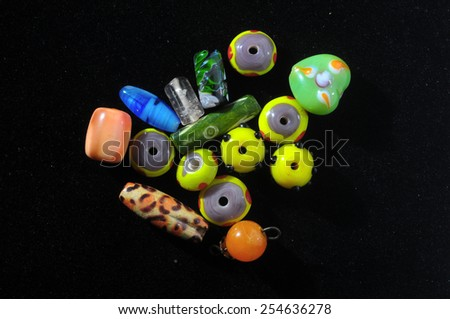 Glass Stones Ready to Make Handmade Jewelry - stock photo