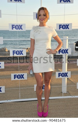 """Glee"" star Jayma Mays at the Fox TV Summer 2011 All-Star Party at Gladstones Restaurant, Malibu. August 5, 2011  Malibu, CA Picture: Paul Smith / Featureflash - stock photo"