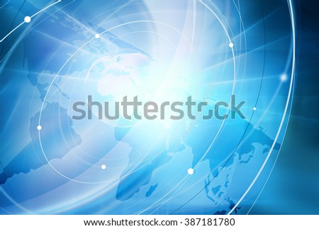 Global Connectivity Background Through the Whole World - stock photo