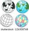 globe icon . jpg (EPS vector version id 126059018,format also available in my portfolio) - stock photo
