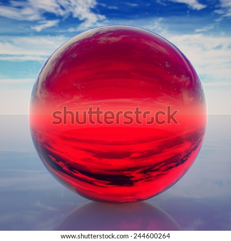 glossy ball vector illustration isolated on background