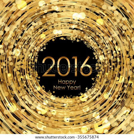 2016 glowing gold background - stock photo