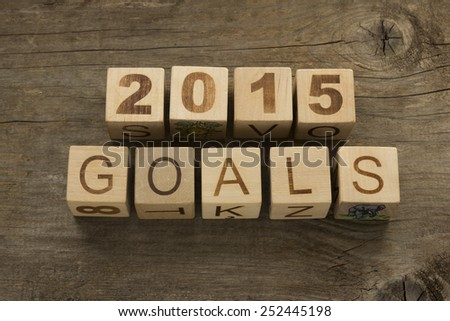 2015 goals - New Year resolution concept  - stock photo