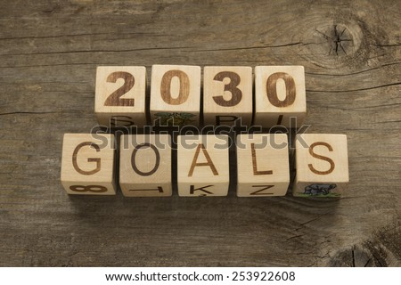 2030 goals - New Year resolution concept - stock photo