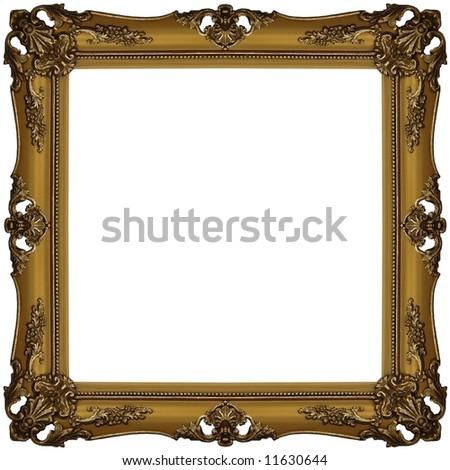 gold frame - stock photo