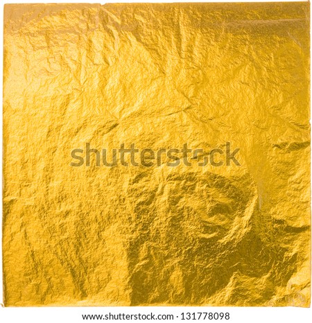 gold leaf isolated on a white background - stock photo
