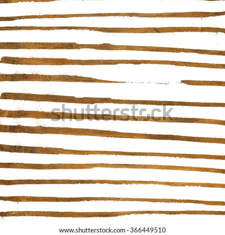 Gold pattern with hand drawn lines. Striped background. - stock photo