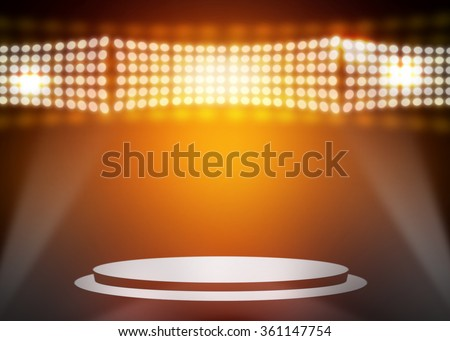 Gold stage background - stock photo