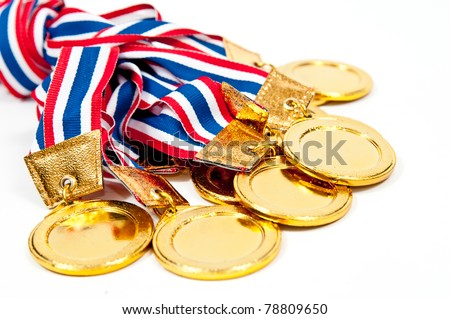 Golden Medals, award - stock photo