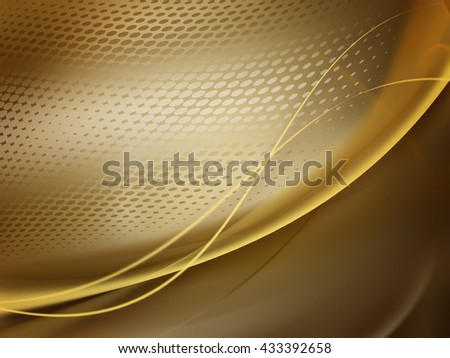 Golden soft abstract business graphic wave background with halftone