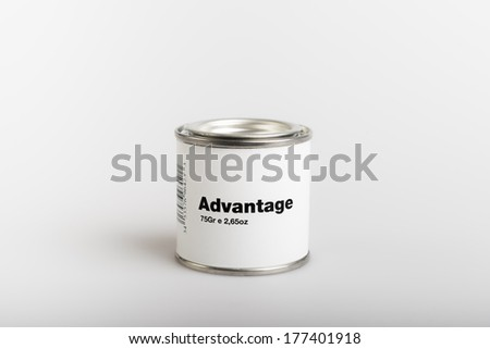 75gr of canned advantage with white background - stock photo