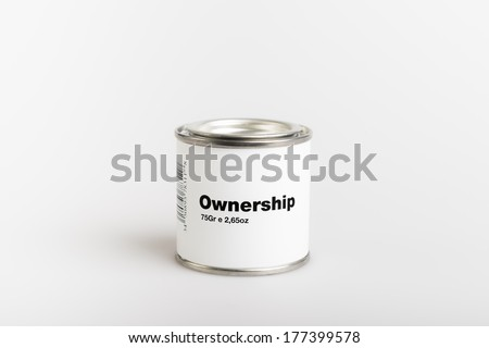 75gr of canned ownership with white background - stock photo