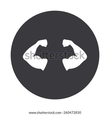 gray circle icon on white background - stock photo