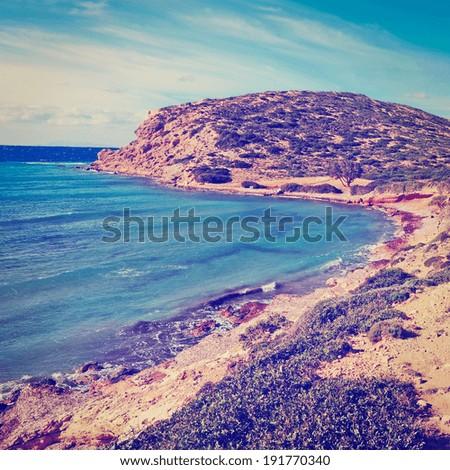 Greek Island of Rhodes, Instagram Effect - stock photo