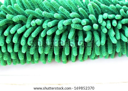 green duster - stock photo