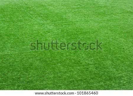 green lawn - stock photo