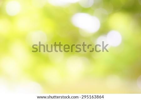 Green light background beautiful bokeh - stock photo