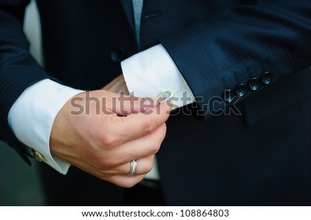 groom. Wedding. romantic caucasian man