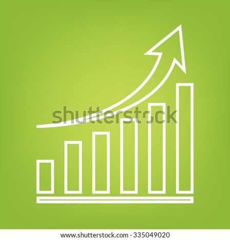 growing graph line icon - stock photo