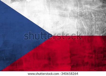 Grunge Czech flag.  - stock photo